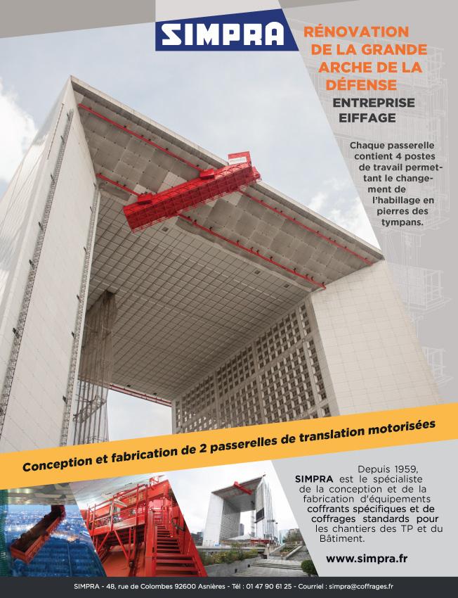 Rénovation de la Grande Arche de la Défense